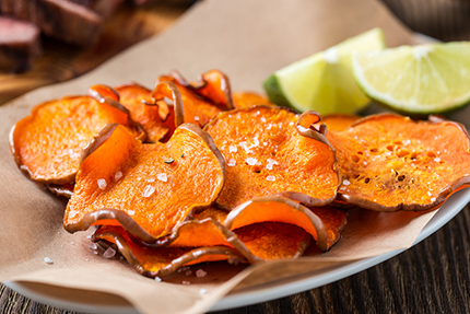 Sweet Potato Crisps with Zanzibar Island Spice